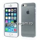 Husa Flexibila Gel TPU iPhone 5 5s Transparent Gri