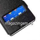 Husa Flip Cu Dubla Fereastra Sony Xperia Z3 D6603 D6643 Neagra