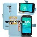 Husa Flip cu Stand Asus Zenfone Go ZB500KL ZB500KG Bleu