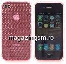 Husa iPhone 4 iPhone 4s Roz Cu Romburi