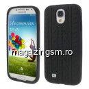 Husa Silicon Samsung Galaxy S4 i9500 i9502 i9505 Design Anvelopa Neagra