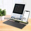 Tastatura Wireless Bluetooth Flexibila Neagra