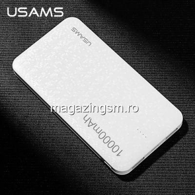 Acumulator Extern Huawei Samsung Allview iPhone Power Bank 10000mAh Alb