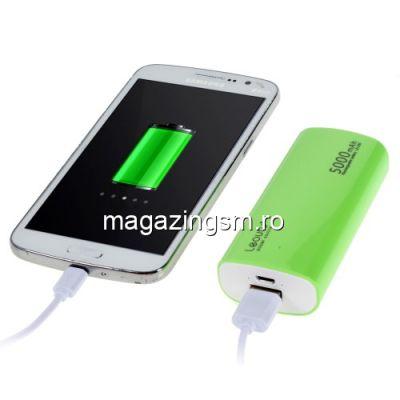 Acumulator Extern Huawei Samsung HTC Nokia iPhone BlackBerry Sony iPad iPod LG LEYOU Power Bank 5000mAh Verde
