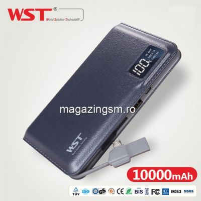 Acumulator Extern Digital Samsung iPhone HTC Nokia LG Huawei Allview Power Bank 10000mAh WST