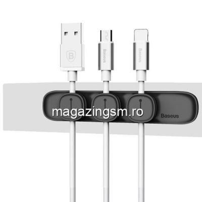 Adaptor Tip Suport Cablu iPhone Samsung Huawei Universal Negru