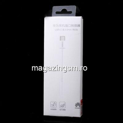 Adaptor USB Type C - Jack Audio Casti Huawei Mate 10 Pro Original Alb