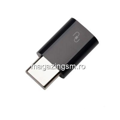 Adaptor USB Type C la Micro USB 2,0 Negru