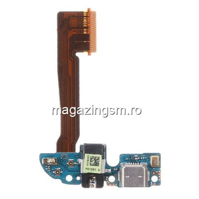 Banda Flex Cu Conector Incarcare Si Microfon HTC One M8 Originala