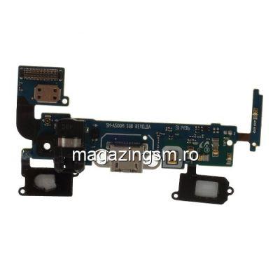 Banda Flex Cu Conector Incarcare Si Microfon Samsung Galaxy A5 SM-A500M Originala