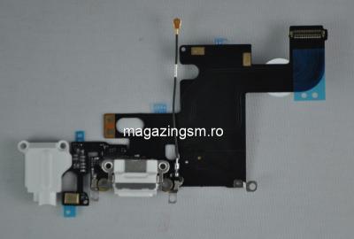 Banda Flex iPhone 6 Conector Incarcare Cu Microfon Si Jack Audio Alb Original