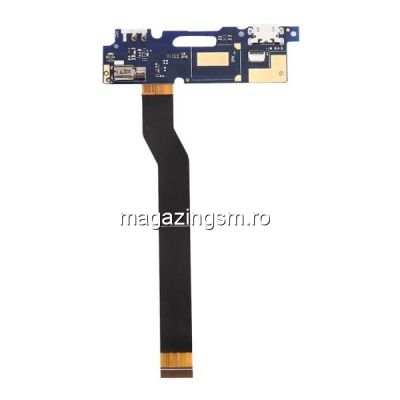 Banda Flex Placa Circuit Conector Incarcare Si Microfon Asus Zenfone 3 Max ZC520TL Originala