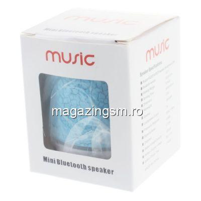Boxa Portabila Cu Conexiune Wireless Bluetoot, Microfon Si Slot TF Card Cu Lumini Albastra