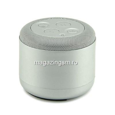 Boxa Portabila Wireless Bluetooth iPhone LG Samsung Huawei Mini Argintie
