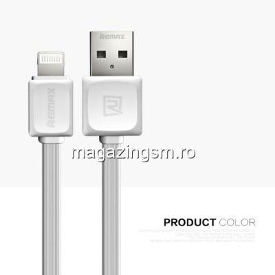 Cablu Date Si Incarcare iPhone X 8 8 Plus 7 7 Plus 6s Plus 6s 6 Plus 6 5s 5c 5 Remax Fast Charger Alb