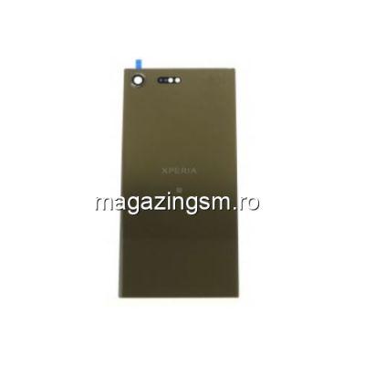 Capac Baterie Spate Sony Xperia XZ Premium Cu Adeziv Sticker Auriu