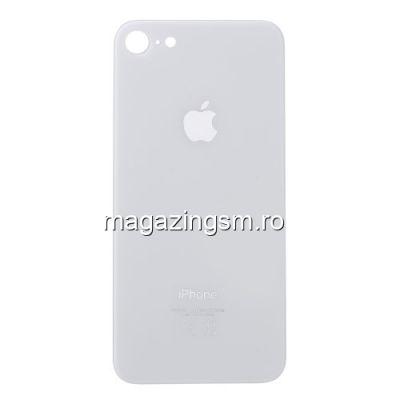 Capac Baterie Spate iPhone 8 Cu Adeziv Sticker Alb