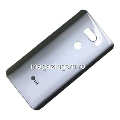 Capac Baterie Spate LG V30 H930 Cu Adeziv Sticker Gri
