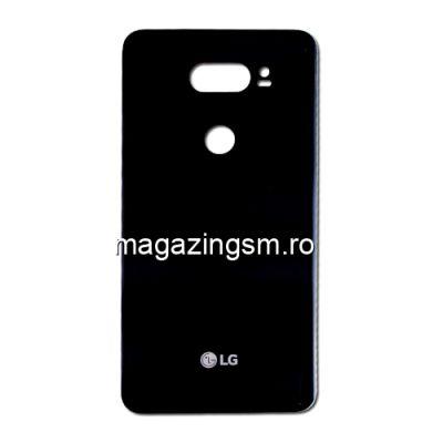 Capac Baterie Spate LG V30 H930 Cu Adeziv Sticker Negru