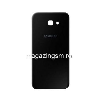 Capac Baterie Spate Samsung Galaxy A7 A720 2017 Cu Adeziv Sticker Negru