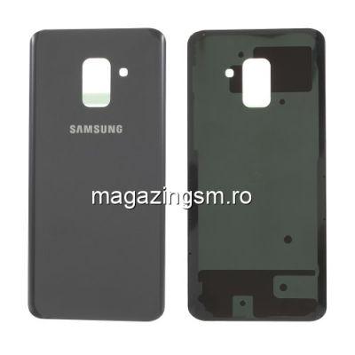 Capac Baterie Spate Samsung Galaxy A8 A530 Cu Adeziv Sticker Gri