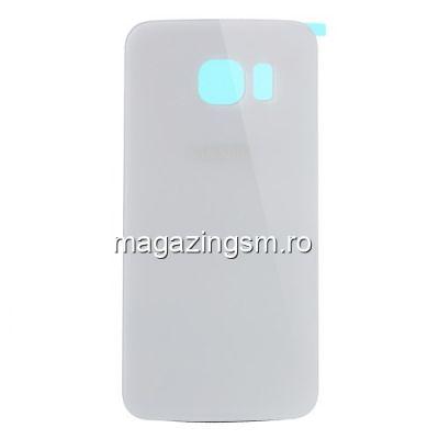 Capac Baterie Spate Samsung Galaxy S6 Edge G925 Cu Adeziv Sticker Alb