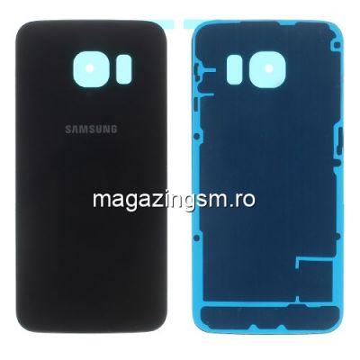 Capac Baterie Spate Samsung Galaxy S6 edge G925 Cu Adeziv Sticker Negru
