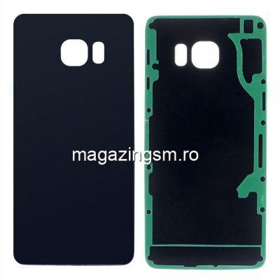Capac Baterie Spate Samsung Galaxy S6 edge+ G928 Cu Adeziv Sticker Albastru Inchis