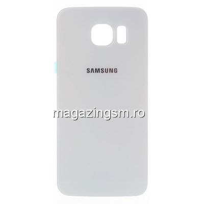 Capac Baterie Spate Samsung Galaxy S6 G920 Cu Adeziv Sticker Alb