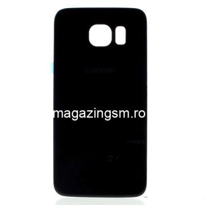 Capac Baterie Spate Samsung Galaxy S6 G920 Cu Adeziv Sticker Negru
