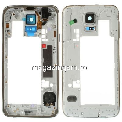 Carcasa Corp Mijloc Samsung Galaxy S5 G900 Cu Butoane Laterale Originala