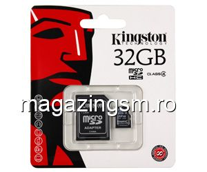Card de Memorie Kingston micro SDHC Card 32GB C4 + SD Adapter