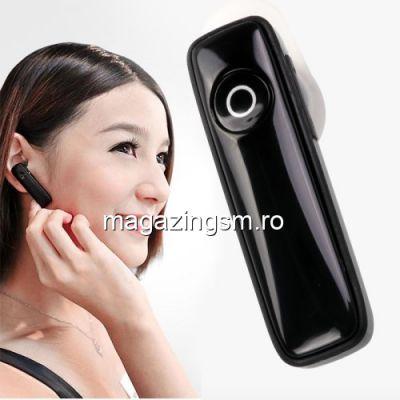 Casca Wireless Bluetooth Cu Microfon Stereo iPhone Samsung Xiaomi HTC Negru