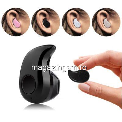 Casti Fara Fir iPhone Samsung HTC Nokia Bluetooth Negre