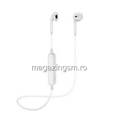 Casti Wireless Bluetooth Cu Microfon Stereo iPhone Samsung Huawei LG Albe