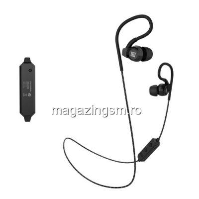 Casti Wireless Bluetooth Stereo Samsung iPhone Huawei LG HTC Nokia LG LANGSDOM Series Negre