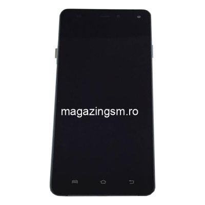 Display Cu Touchscreen Si Rama Allview E4 / E4 Lite Original Negru