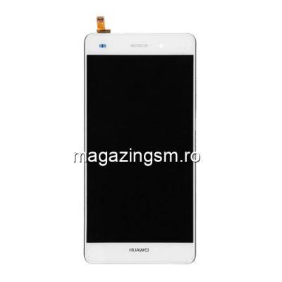 Display Cu Touchscreen Huawei Ascend P8 Lite ALE-L21 cu Rama  Alb