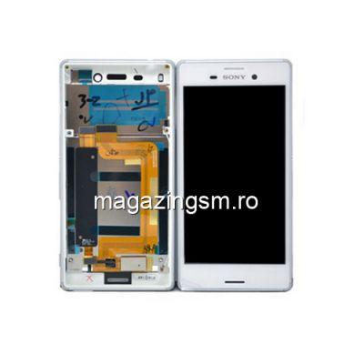 Display Cu Touchscreen Si Rama Sony Xperia M4 Aqua Original SWAP Alb