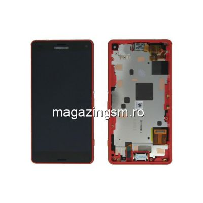 Display Cu Touchscreen Si Rama Sony Xperia Z3 Compact D5803 D5833 M55w Original SWAP Rosu