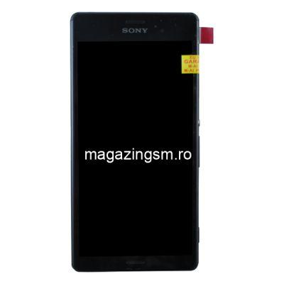 Display Cu Touchscreen Si Rama Sony Xperia Z3 Dual D6633 Negru