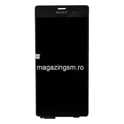 Ecran Cu Touchscreen Si Rama Sony Xperia Z3 L55 D6603 D6643 D6616 Negru