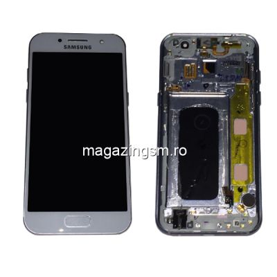 Display Samsung Galaxy A3 A320 Original Complet Cu Rama SWAP Albastru