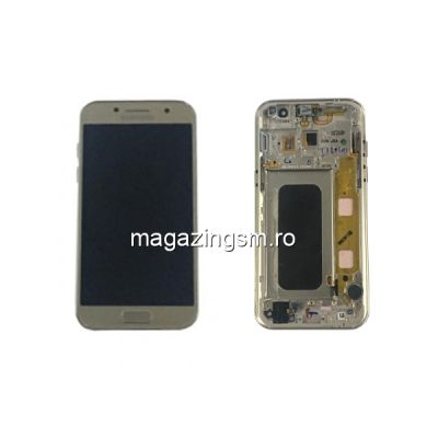 Display Samsung Galaxy A3 A320 Original Complet Cu Rama SWAP Auriu