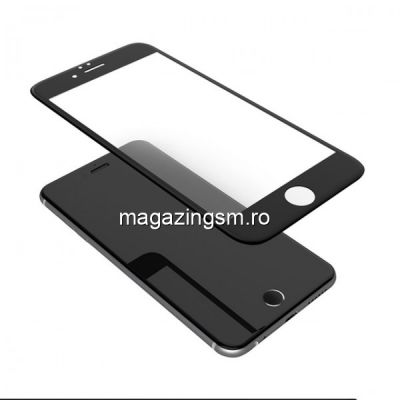 Geam Folie Sticla Protectie Display iPhone 6 Acoperire Completa Negru 6D