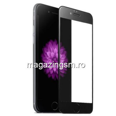 Geam Folie Sticla Protectie Display iPhone 8 / iPhone 7 Acoperire Completa Negru 6D