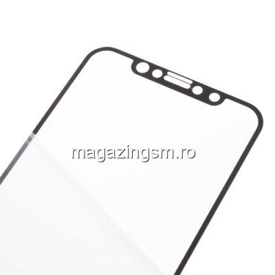 Geam Folie Sticla Protectie Display iPhone X Acoperire Completa Negru