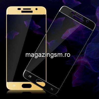 Geam Folie Sticla Protectie Display Samsung Galaxy A5 / A520 Acoperire Completa Auriu