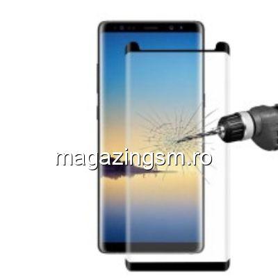 Geam Folie Sticla Protectie Display Samsung Galaxy Note 8 Acoperire Completa Neagra