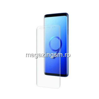 Geam Folie Sticla Protectie Ecran Display Touchscreen Samsung Galaxy S9 Plus G965 Acoperire Completa Transparent 6D